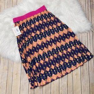 Lularoe Geometric Print Pink Jill Skirt